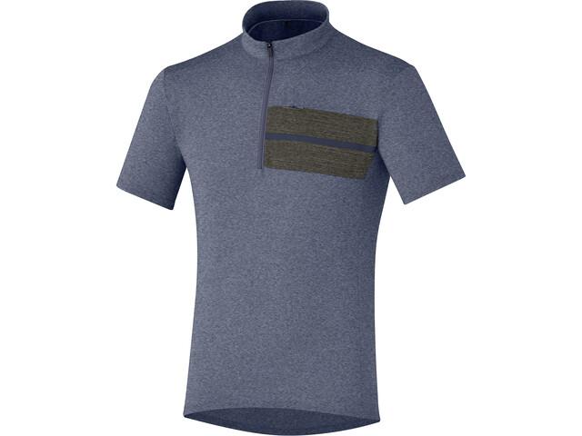 Shimano Transit Pavement Stripe Jersey Herren navy blazer